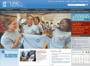 UNC law website sample